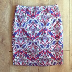 Ann Taylor size 6 skirt in Orange and blue
